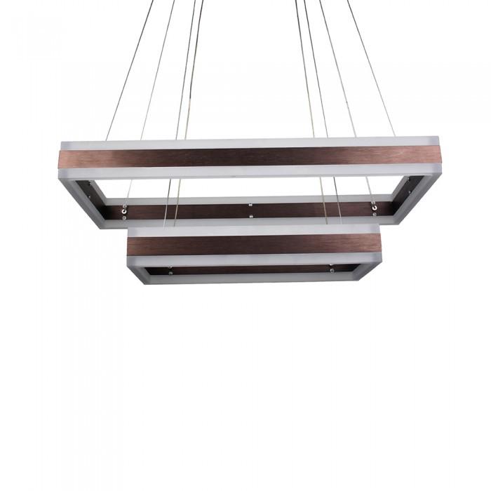 Dimobilni LED luster braon kvadratni V-TAC
