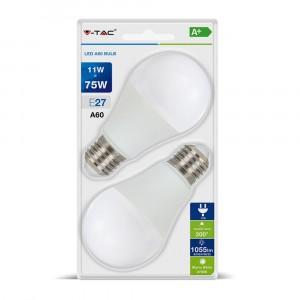 LED sijalica 11W E27 A60 TB 2kom V-TAC