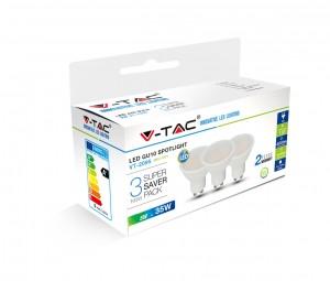 LED sijalica 5W GU10 plastika HB 3kom V-tac