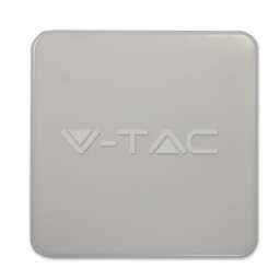 LED nadgradna svetiljka 15W IP44 kvadratna V-TAC