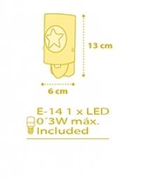 LED noćna lampa DREAM ljubičasta DALBER