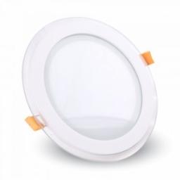 LED panel ugradni  okrugli 12W staklo PB V-TAC