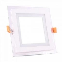LED panel ugradni kvadrat 6W staklo CW V-TAC