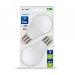 LED sijalica 11W E27 A60 CW 2kom V-TAC