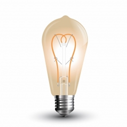 LED sijalica 5W E27 ST64 zlatna 2200K V-Tac