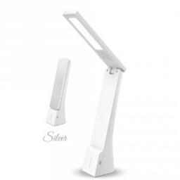 LED stona lampa 4W belo srebrna V-TAC