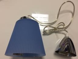 LED visilica 7W hrom plava PB V-tac