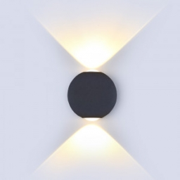LED zid sve.6W krug crna TB IP65 V-TAC