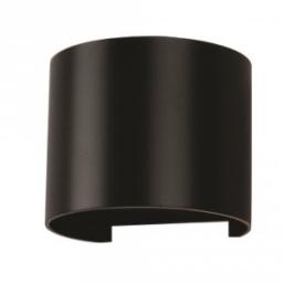 Led zidna lampa 6W okrugla crna IP65 V-TAC