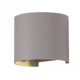 Led zidna lampa 6W okrugla siva IP65 V-TAC