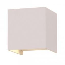 LED zidna sv.6W kvadrat bela PB IP65 V-TAC
