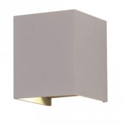 LED zidna sv.6W kvadrat siva PB IP65 V-TAC