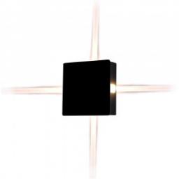 LED zidna sv. 4W kv.crna PB IP65 V-TAC