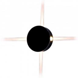 LED zidna sv. 4W okrugla crna PB IP65 V-TAC