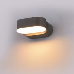 LED zidna sve.6W elipsa siva TB IP65 V-TAC