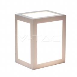 LED zidna svetiljka 12W bela kvadratna PB V-TAC