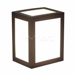 LED zidna svetiljka 12W crna kvadratna PB V-TAC