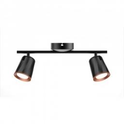 LED zid.svetiljka 2x6W crna PB V-TAC