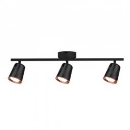 LED zid.svetiljka 3x6W crna PB V-TAC