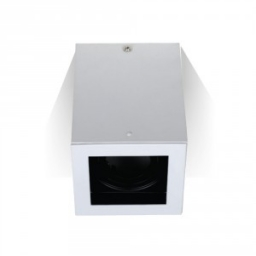 Nadgradna rozetna GU10 kvadrat bela V-TAC