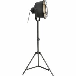 Podna lampa BUCK+GRILL E27 siva BRILLIANT
