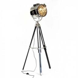 Podna lampa CINE E27 crna BRILLIANT