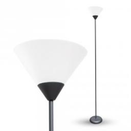 Podna lampa E27 crna V-TAC