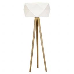 Podna lampa POLYGON E27 hrast-bela BRILLIANT