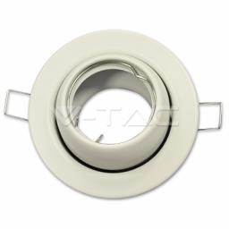Rozetna GU10 okrugla pokretna bela
