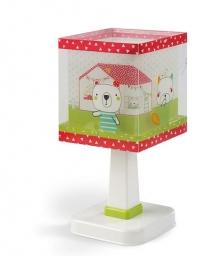 Stona lampa E14 kućica bela DALBER