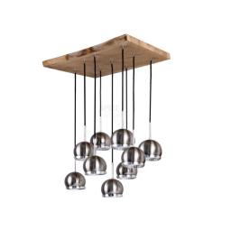 Visilica Ball Wood 9x5,5W GU10 Spot Light