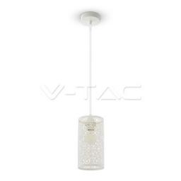 Visilica E27 mat bela cilindar V-TAC