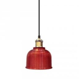 Vislica staklena crvena fi150cm E27 V-TAC