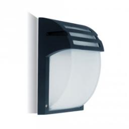 Zidna lampa E27 staklo crna IP44 V-TAC