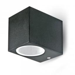 Zidna svetiljka 1xGU10 kv. crna V-TAC