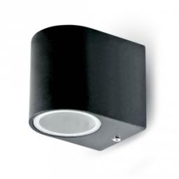 Zidna svetiljka 1xGU10 okrugla crna V-TAC