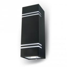 Zidna svetiljka 2xGU10 kvad.crna IP44 V-TAC